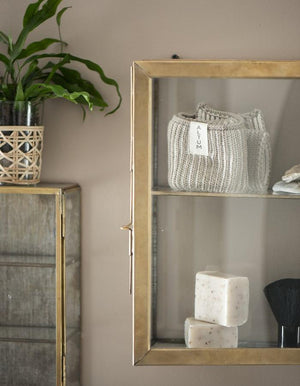 Burnished Gold Metal Wall Cabinets In A Choice Of Sizes