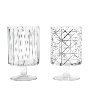 Silver Pattern Print Glass