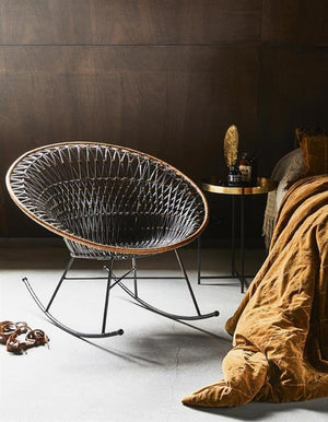Rattan Rocking lounge chair