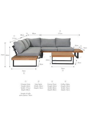 Soft Grey Outdoor Corner Sofa - PRE ORDER SEPTEMBER