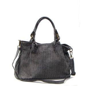 Leather grey bag
