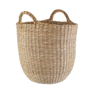 Tall Woven Seagrass Basket with Handles