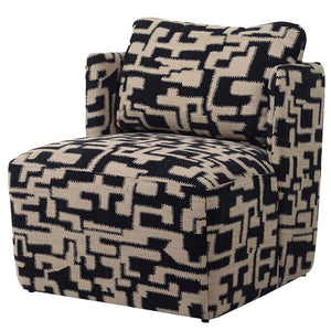 Black and Beige Geo Chair