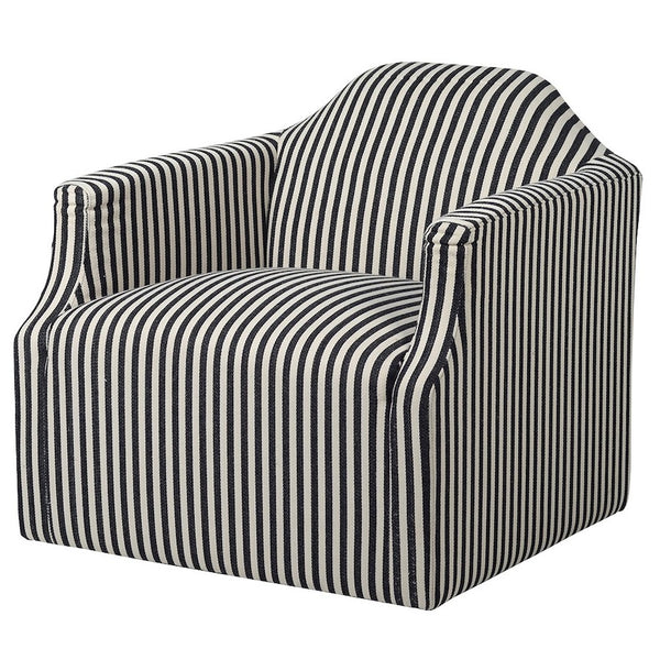 Candy Striped Swivel Chair