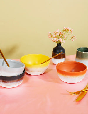 Ombre Effect Glazed Bowls
