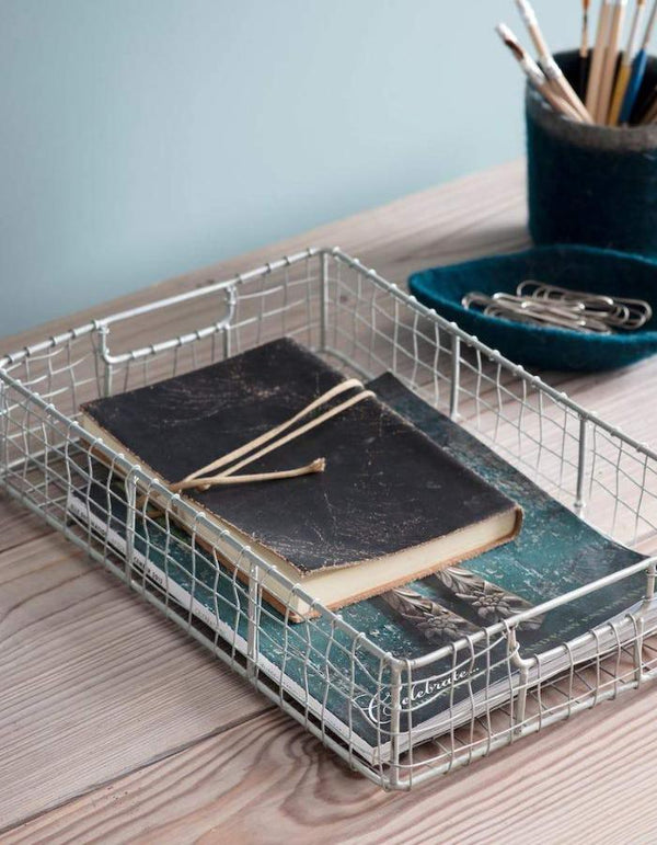 Industrial Wire Desktop Organiser