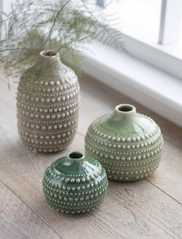 Various Textured Urchin Vases