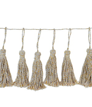 14 Cotton Tassels Garland in a Cotton Bag
