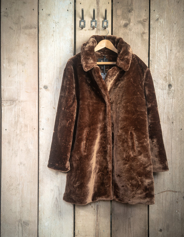 Chocolate Brown Teddy Coat