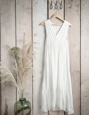 White Grecian Style Dress