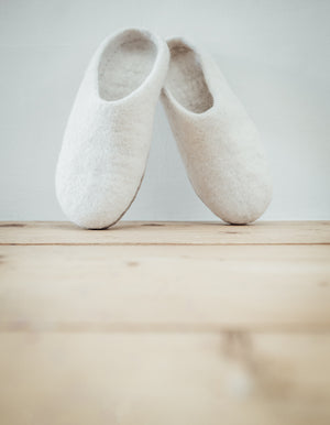 Winter White Slippers