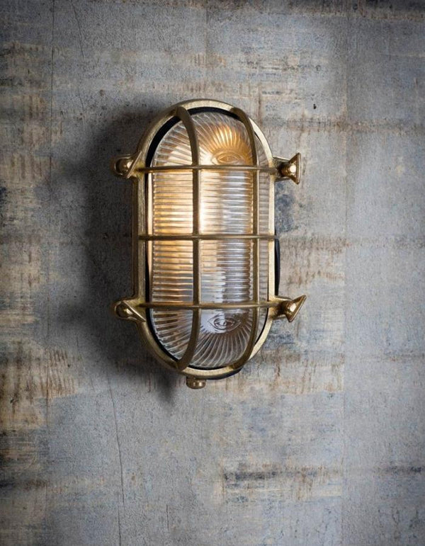 Large Oval Industrial Wall Light