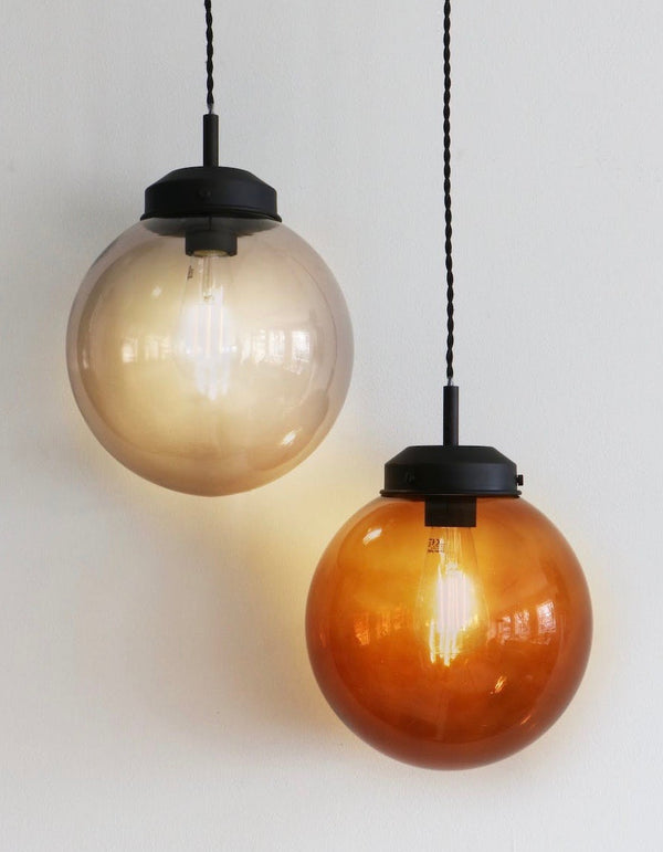 Globe Pendant Lights in Russet or Smoke