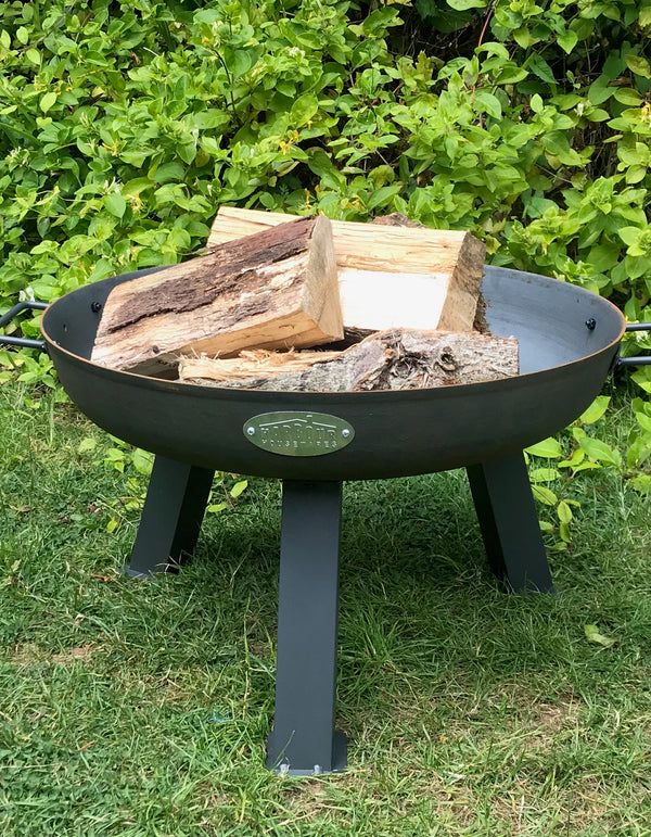 Steel Three Legged Fire Pits Available In Three Sizes. PRE ORDER AUGUST