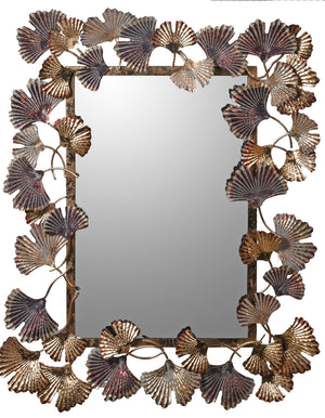 Ginkgo Leaf Wall Mirror