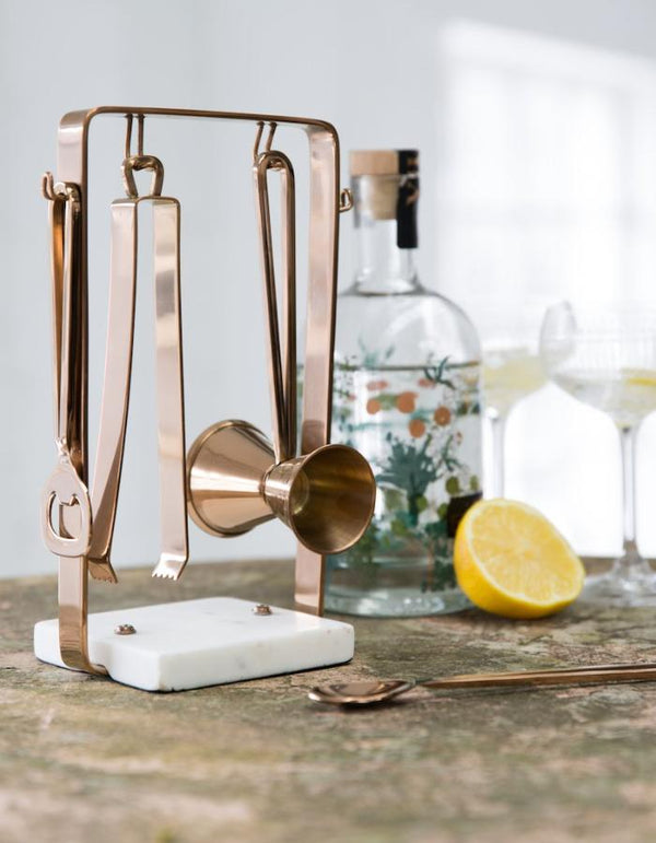 Copper and Marble Cocktail Kit