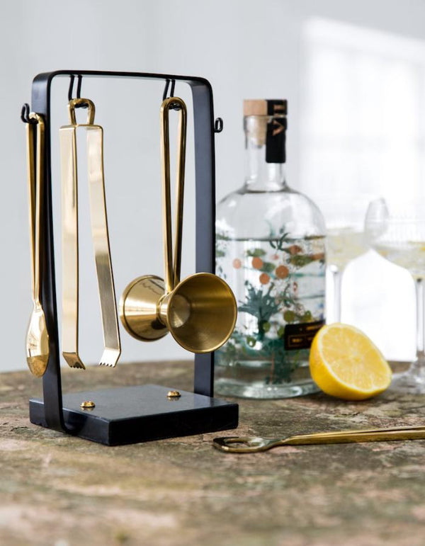 Black and Gold Marble Cocktail Kit