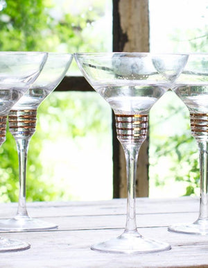 Set of Four Martini Glasses