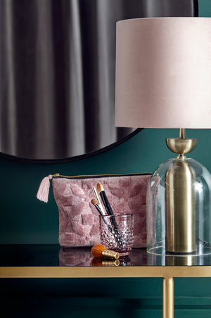 Rose and Gold Glass Lamp