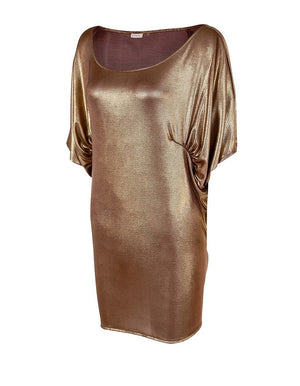 Gold Bubble Drape Top