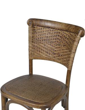 Rattan Weave High Back Dining Chair