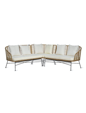 All Weather Bamboo Corner Sofa   PRE ORDER JULY