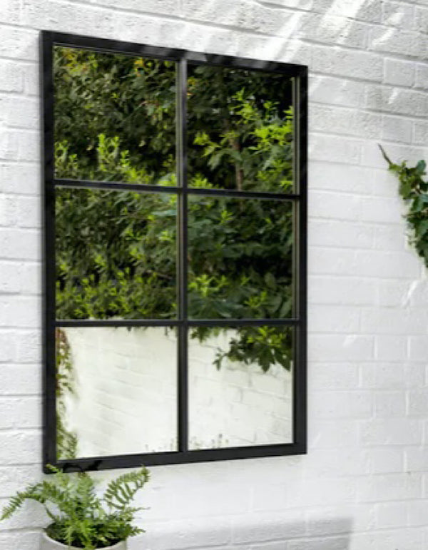 Rectangle Windowpane Garden Mirror. PRE ORDER LATE MAY