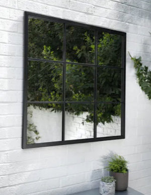 Square Windowpane Garden Mirror  PRE ORDER LATE MAY