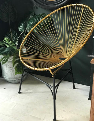 Starburst Chair On Gold And Black