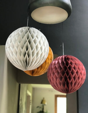 Set of Two Colourful Honeycomb Paper Balls
