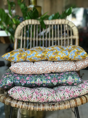 Floral Ethnic Box Chair Pads