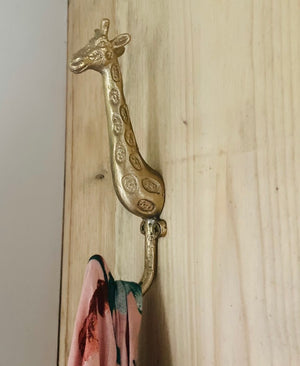 Glorious Brass Giraffe Hook