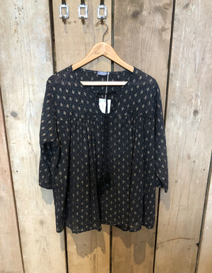 Black and Gold Smock Shirt