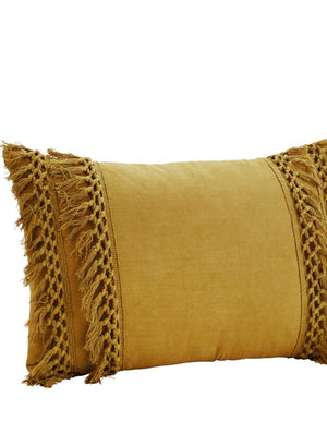 Tasseled Cushion In A Choice Of Colours
