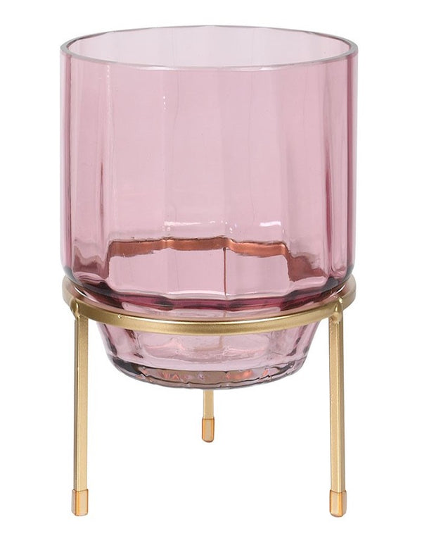pink glass hurricane