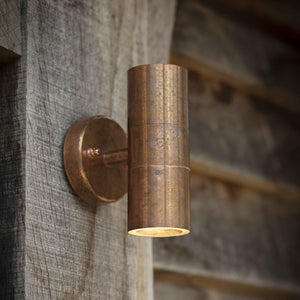 Rustic Copper Outdoor Tube Wall Light   PRE ORDER JANUARY