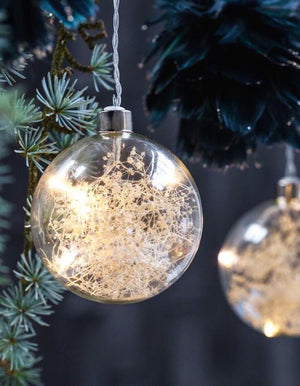 LED Lit Christmas Bauble