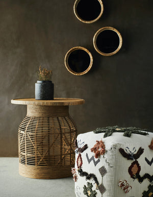 Crafted Rattan Side Table