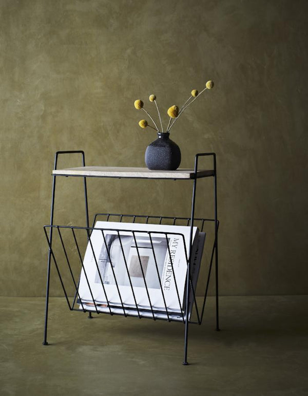 Magazine Rack with Shelf