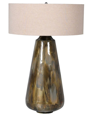 Brown Ombre Lamp with Cotton Shade