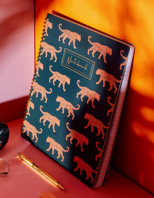 Wild Leopard Lined Notebook