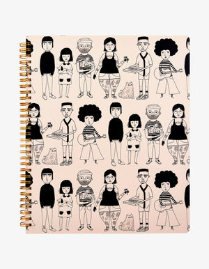 All The Lovely People A4 Notebook