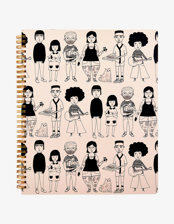 Cuaderno A4 All The Lovely People