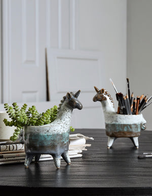 Ceramic Unicorn Pots