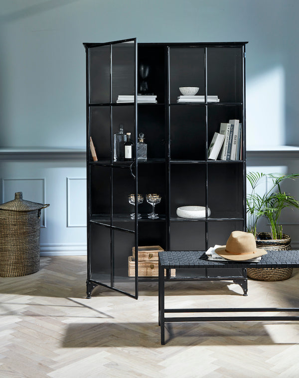Black Industrial Iron Cabinet
