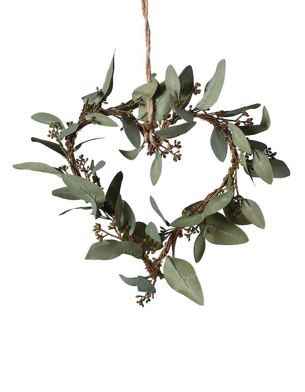 Eucalyptus Leaves Heart Decoration