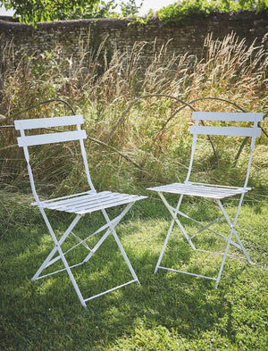 Set of Two Chalk Bistro Chairs