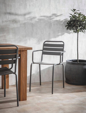 Set Of Two Charcoal Garden Chairs.  PRE ORDER JUNE
