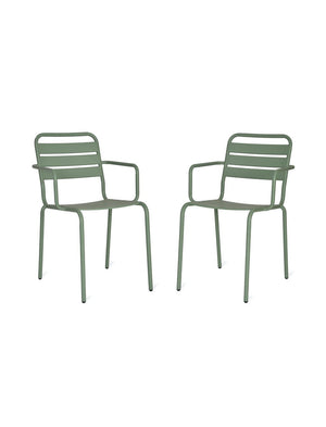 Pair Of Sage Green Garden Chairs