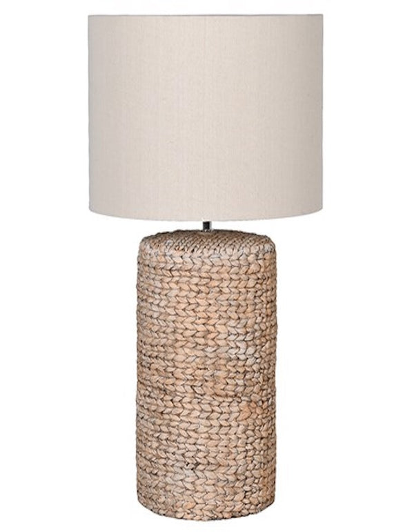 Large rope effect table lamp.
